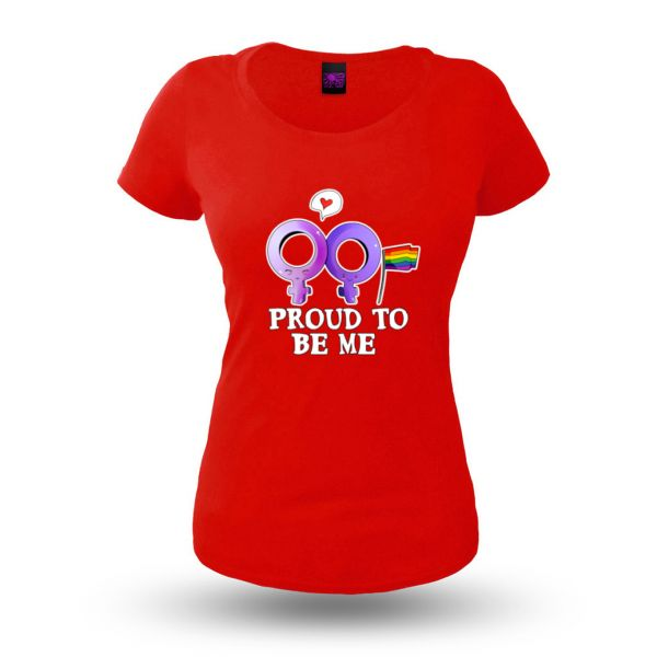 Proud to be me weiblich - Damenshirt rot