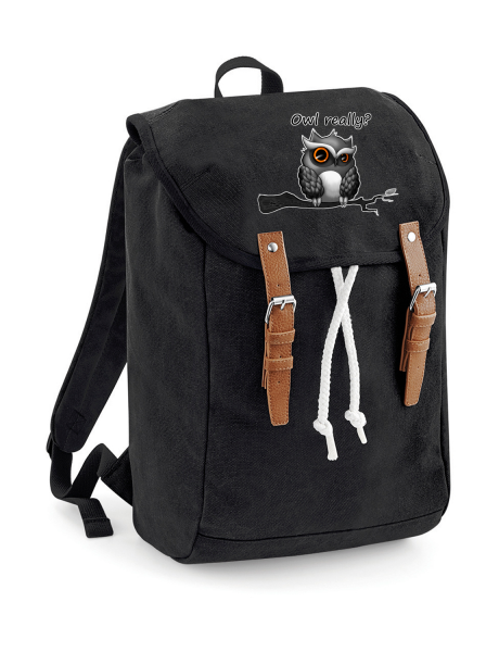 Rucksack Canvas Owl really