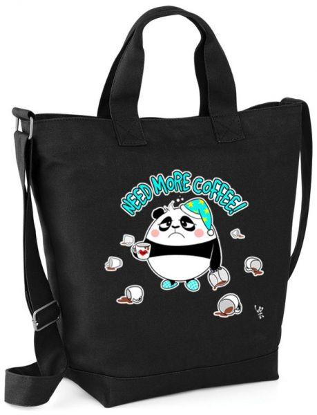 Need more coffee PANDA - Shopperbag