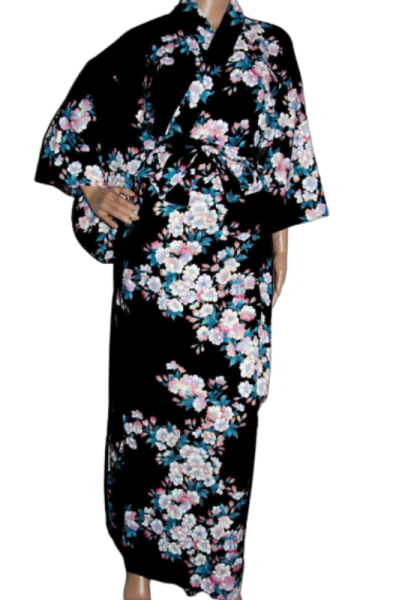Fashion-Yukata - White Cherry Blossoms