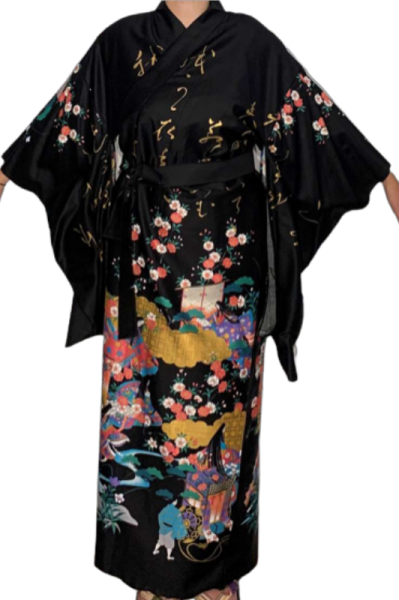 "Fashion-Furisode - ""Kaguya"" Schwarz"